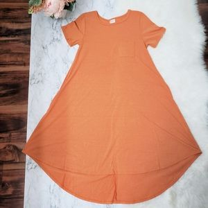 Lularoe carly dress| Orange 🍊🍊🍊